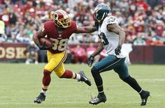 Redskins def. Eagles 23-20: Full highlights, final score and more:    Oct 4, 2015; Landover, MD, USA; Washington Redskins wide receiver Pierre Garcon (88) is tackled by Philadelphia Eagles cornerback Nolan Carroll (23) during the first quarter at FedEx Field. Mandatory Credit: Brad Mills-USA TODAY Sports