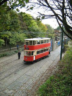 London tram at Crich Tramway Village.