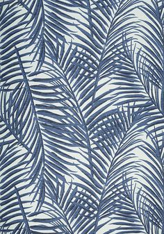 Trendy bedroom wallpaper beach blue and white ideas Bedroom Wallpaper Beach, Beachy Wallpaper, Blue And White Wallpaper, Palm Wallpaper, Interior Wallpaper, Tropical Wallpaper, Botanical Wallpaper, Bathroom Wallpaper, Fabric Wallpaper