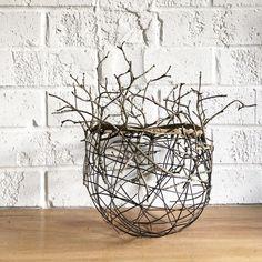 Monday. Sculpture Art, Sculptures, Contemporary Baskets, Diy And Crafts, Arts And Crafts, Stick Art, Weaving Art, Nature Crafts, Fibres