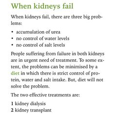What happens when the kidneys fail?