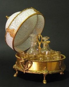 19TH CENTURY BACCARAT AND ORMOLU TANTALUS