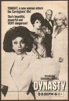 "Dynasty: ""New Lady in Town"" Promo Der Denver Clan, 1980s Tv, Dallas Tv Show, Diahann Carroll, Life Tv, Tv Soap, Valley Girls, Tv Ads, Nostalgia"