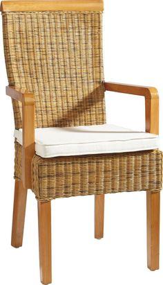 """In den Stuhl """"Ramosa"""" von LANDSCAPE lehnen Sie sich gerne zurück. Eine Fertigung aus Rattan verleiht dem Stuhl seine ansprechende Optik und sorgt für einen komfortablen Sitz. Genießen Sie Ihren morgendlichen Kaffee ebenso wie ein gutes Glas Wein und sitzen Sie dabei stets bequem. Gegen Aufpreis erhalten Sie in unseren Filialen passende Kissen. Ein rustikales Highlight von LANDSCAPE!"""