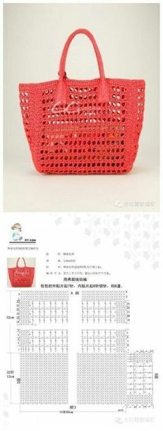 34 Ideas crochet basket free patterns market bag for 2019 Diy Purse Patterns, Handbag Patterns, Sewing Patterns, Crochet Handbags, Crochet Purses, Crochet Bags, Crochet Bag Free Pattern, Crochet Patterns, Crochet Baskets