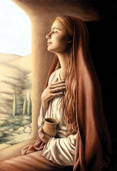 Mary Magdalene by Jonathan Weber.from the board † Magdalena † Catholic Art, Catholic Saints, Catholic Quotes, Roman Catholic, Religious Images, Religious Art, Mary Magdalene And Jesus, Maria Magdalena, Holy Mary
