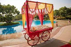Mehendi decor, food tents for an Indian wedding event Mehendi Decor Ideas, Mehndi Decor, Indian Wedding Decorations, Flower Decorations, Indian Weddings, Real Weddings, Indian Destination Wedding, Aisle Decorations, Trendy Wedding
