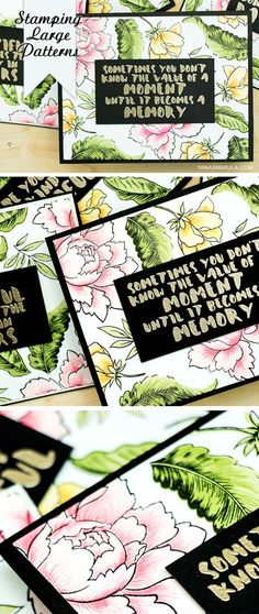 Create hand-stamped eye-catching patterns for cards using Altenew Peony Bouquet stamps.For details, please visit  http://www.yanasmakula.com/?p=52918