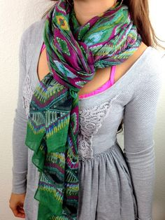 oGorgeous Gym Boutique - Peacock Scarf