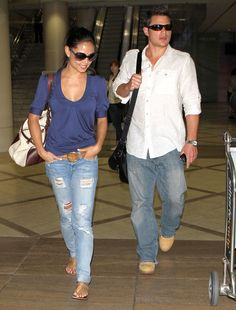 Nick Lachey and Vanessa Minnillo.