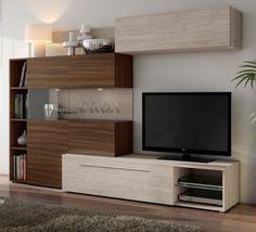 TV Wand In Schwarz Weiss 300 Cm Breit 8 Teilig Jetzt Bestellen