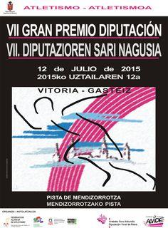 Cartel oficial del Gran Premio Diputación de Álava, que se disputará el próximo 12 de julio en Vitoria. Más información sobre este Meeting en: http://faatletismo.com/gran-premio-diputacion-2/