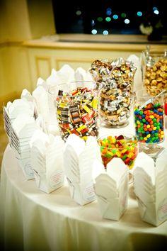 Candy Buffet. A neat favor option!
