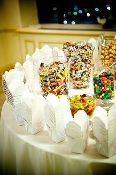 Candy Buffet. A neat favor option!