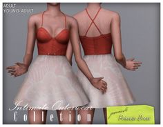 My Sims 3 Blog: Intimate Outerwear Collection - Princess Dress by Greennoodle