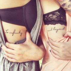 To Infinity And Beyond Best Friend Tattoos!!!