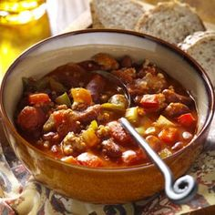 Spicy Pork Chili Recipe from Taste of Home shared by Christine Hartry of Emo, Ontario