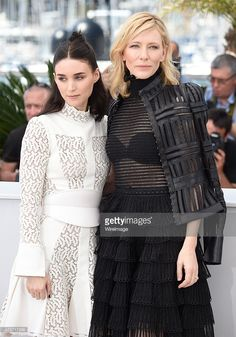 Actresses Rooney Mara (L) and Cate Blanchett attend the 'Carol' Photocall during the 68th annual Cannes Film Festival on May 17, 2015 in Cannes, France.