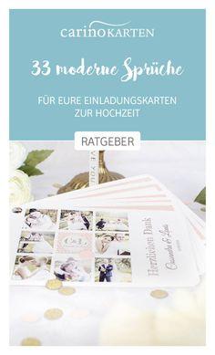 Ratgeber Zur Hochzeitsplanung 33 Moderne Sprüche Für Die Einladungen Zur  Hochzeit   Carinokarten