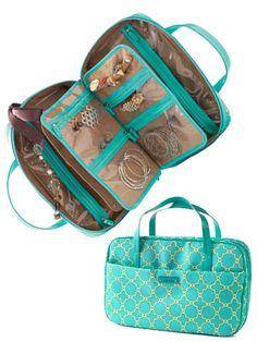 Best for Baubles..www.stelladot.com...Stella & Dot Jewelry Travel Case. Too cute!