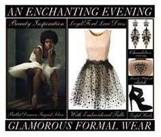 """An Enchanting Evening"" by latoyacl ❤ liked on Polyvore featuring mode, Loyd/Ford et Manolo Blahnik"
