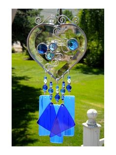 Stained Glass Wind Chimes | Stained Glass Beveled Heart Wind Chime | Flickr - Photo Sharing!