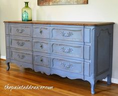 Old Violet Vintage Dresser Makeover in Annie Sloan Old Violet Refurbished Furniture, Repurposed Furniture, Furniture Makeover, Bedroom Furniture, Home Furniture, Furniture Movers, Furniture Refinishing, Paint Furniture, Annie Sloan Chalk Paint Colors