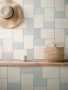 Beautiful graphic wall - Cava Graphic Tile Collection by LucidiPevere for Living Ceramics - Design Milk