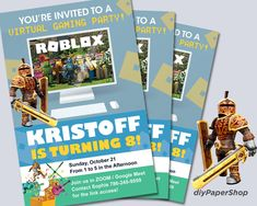 Excited to share the latest addition to my #etsy shop: Roblox Invitation, Roblox Zoom Party, Roblox Google Meet Birthday Invitation, DIY Virtual Invitation, Gaming Invite, PDF Instant Download #robloxparty #roblox #robloxinvitation #robloxbirthday Beatles Birthday, Birthday Games, Yellow Submarine, Email Design, Free Games, Birthday Invitations, Invite, Gaming, Pdf