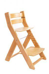 Dřevěná rostoucí židle slouží jako jídelní a poté i jako studijní dětská židle. Židle jsou bukové, což jim zajistí dlouhou životnost. Doprava je Zdarma.