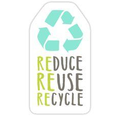 Reduce, reuse, recycle Stickers by kondratya Save Planet Earth, Save Our Earth, Reduce Reuse Recycle, Ways To Recycle, Tumblr Stickers, Cute Stickers, Carta Logo, Recycling Information, Binder