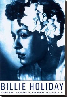 Posters-inc. Old Hollywood, jazz- E. Billie Holiday at Town Hall, New York City, 1948 by Dennis Loren - poster - 43 x 61 cm (without border: 41 x 58 cm) Item 388521 Usually ships within 24 hours Our Price: £ Billie Holiday, Town Hall, Nyc, Vintage Posters, Vintage Art, Vintage Black, Vintage Music, New York City, Framed Art Prints