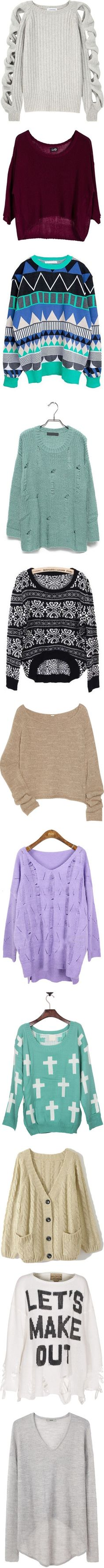 """Sweaters and Cardigans"" by belieberrrrrrrrrrrrrr ❤ liked on Polyvore"