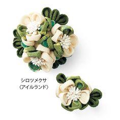 和洋折衷 世界の国花をちりめんで咲かせた つまみ細工の会(13回限定コレクション) | フェリシモ