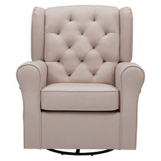 The Delta Children Emma Upholstered Glider brings style and comfort to your nursery. The nursery glider has a smooth gliding motion that's great for soothing both you and your baby. Glider Recliner, Swivel Chair, Armchair, Gliders, Cool Chairs, Chairs For Sale, Furniture, Home Decor, Swinging Chair