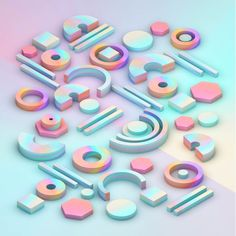 3d, shapes, isometric, graphics - rosieroche | ello