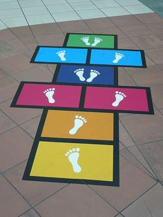 This shows physical fitness activities for middle childhood.Hopscotch Use sidewalk Fun Ideas for Backyard Games WeekEnjoy this fun way for kids (of all ages) to learn about the order of the Passover seder! Fun Indoor Activities, Motor Skills Activities, Team Building Activities, Gross Motor Skills, Toddler Activities, Indoor Games, Backyard For Kids, Backyard Games, Backyard Playground