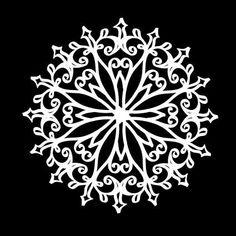 Šablona Mandala 3, průměr 25 cm, plast