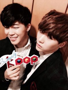 JiMin and Suga twitter update on simply Kpop