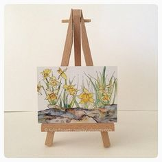 ACEO Print of Pen and Wash Painting Daffodil Rock Garden © Kylie Fogarty This Fine Art ACEO Print displays an image taken from my original artwork, Daffodil Rock Garden © Kylie Fogarty This exquisite Fine Art Print is the perfect way to start a miniature art collection. TITLE: Daffodil Rock Garden © Kylie Fogarty SIZE: 2.5 x 3.5 EDITION: Open Edition FOUNDATION: Smooth Glossy 110lb card stock professionally printed in the USA Please note this listing is for the ACEO Print only, the easel...