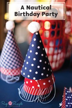 All aboard the birthday boat! This Nautical First Birthday party theme is perfect for your baby boy or girl. With red and blue party hats and simple DIY decor, this theme is an amazingly easy way to host a put-together party. Save your back deck from smash cake pieces with Bounty Paper Towels!