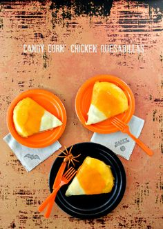 Candy Corn Chicken Quesadillas | BoulderLocavore.com #fall #halloween #cheese #glutenfree #chicken