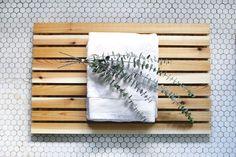 DIY Cedar Bath Mat @The Merrythought