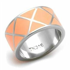 RIGHT HAND RING - Rose Plated High Polished Stainless Steel Dome Ring HopeChestJewelry. $12.49