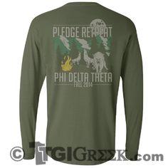 Phi Delta Theta - TGI Greek - Comfort Colors - Greek T-shirts - #TgiGreek #PhiDeltaTheta #PledgeRetreat