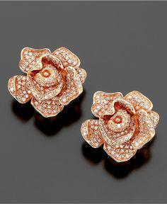 OMG WOW!!! Rose gold rose earrings ♥
