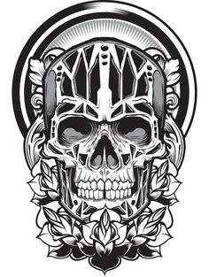 All About Art Tattoo Studio Rangiora. Quality work by Professional Artist. Skeleton Tattoos, Skull Tattoos, Evil Skull Tattoo, Memento Mori, Estilo Tribal, Desenho Tattoo, Skull Design, Skull And Bones, Skull Art