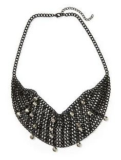 Tinley Road Black Mesh Necklace | Piperlime