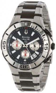 Relógio Bulova Men's 98B013 Marine Star Diver's Chronograph Watch