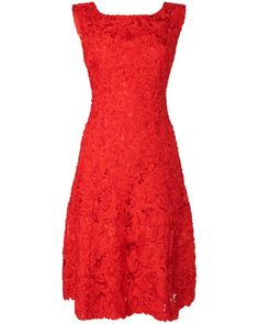 Flavia Ribbon Tapework Fit And Flare Dress. A beautiful party dress with intricately embroidered tapework on lace and a zip at the back. This fully lined dress has a net underlay to create a feminine fit and flare shape.